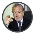 Lord-Alan-Sugar when Noel performed for him BBC's The Apprentice